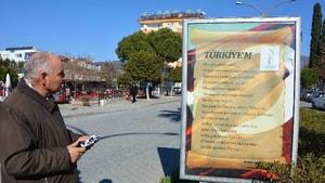 Ortaca'da şiirler sokakları süslüyor