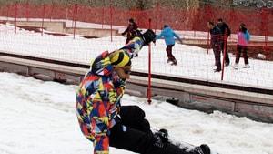 Palandöken'de nisan ayında kayak keyfi