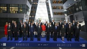 Cumhurbaşkanı Erdoğan, NATO Zirvesi'nde aile fotoğrafı çekimine katıldı