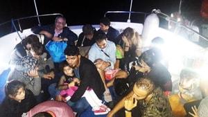 Bodrum'da 18 göçmen yakalandı
