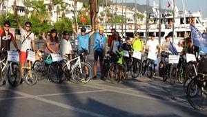 Marmaris'te bisiklet farkındalık turu