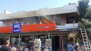 Milas'ta korkutan ev yangını!