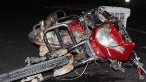 Motosiklet sürücüsünün talihsiz ölümü