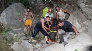 Fethiye'de kayalıklardan düşen Azeri kadın hayatını kaybetti
