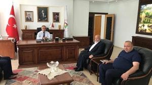 HAK-İŞ'den ziyaret  Başkan Dursun Ay'a ziyaret