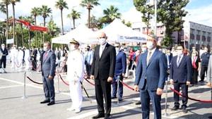 Cumhuriyet Bayramının 97.yılında Marmaris'te çelenk sunma töreni yapıldı