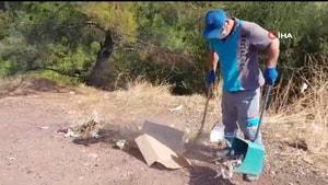 Marmaris'te bayram bitti, 5 ton çöp toplandı