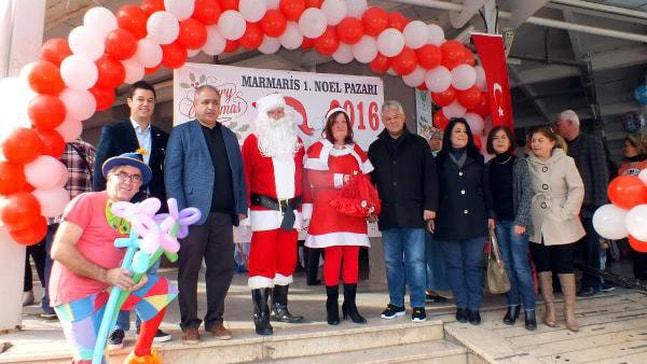 Marmaris'te Noel Pazarı Açıldı
