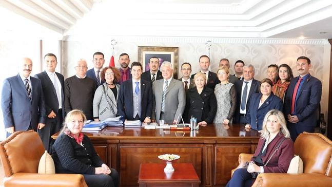 CHP'nin yeni yönetimi Acar'ı ziyaret etti