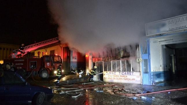 Karabük'te iş yeri yangını