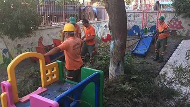Belediye okullarda çalışma başlattı