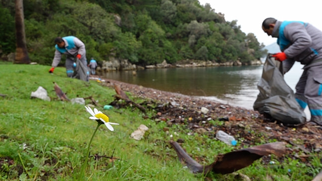 Adalarda çevre temizliği