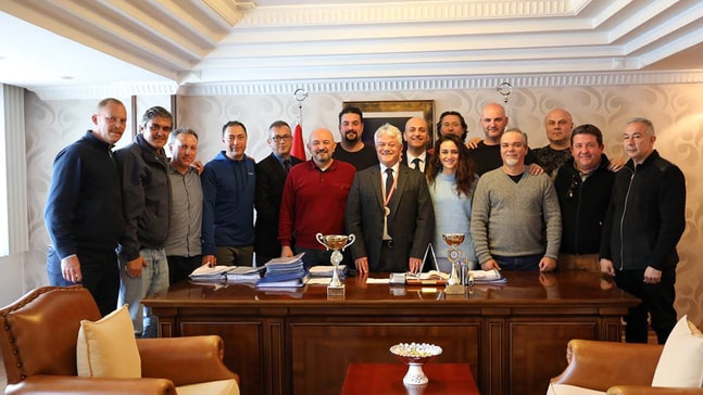 Şampiyon veteranlar Acar'ı ziyaret etti