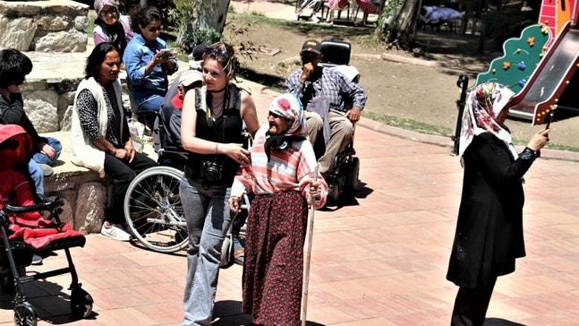 Datça'da engelliler gönüllerince eğlendi