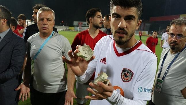 Boluspor - Gazişehir Gaziantep maçı sonrası olaylar çıktı