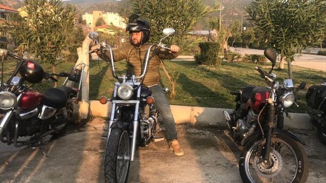 Serkan Yazıcı Motor Kulübü üyeleriyle şehir turu yaptı