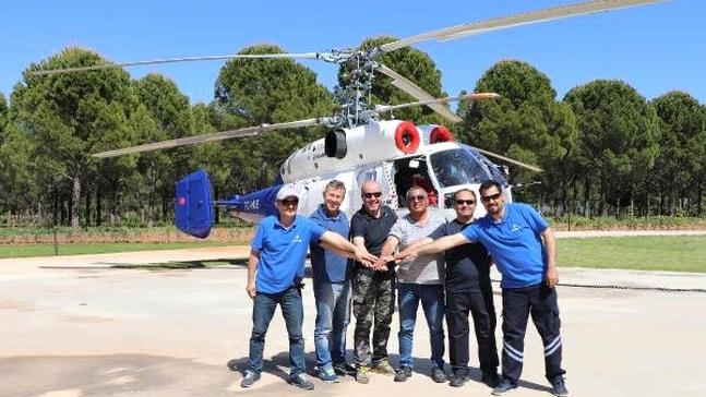 Yangın söndürme helikopteri göreve başladı