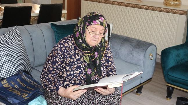 85 yaşındaki Hatice Nine yazdığı bin 300 şiiri var