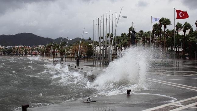 Muğla için kuvvetli fırtına uyarısı