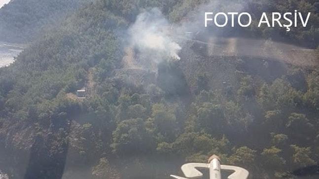 Marmaris Aksaz'daki askeri bölgedeki ormanlık alanda yangın çıktı