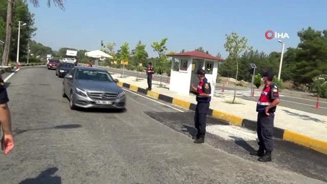 Marmaris'te bayram öncesi giriş noktası kontrolleri arttırıldı