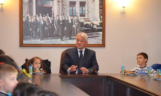 Miniklerden Başkan Acar'a ziyaret