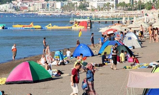 Halk Plajı'nda çadır yasağı devam ediyor