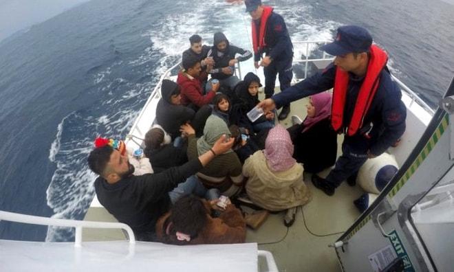 Marmaris'te 28 göçmen yakalandı
