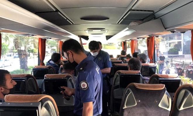 Marmaris'te Seyahat izin belgesi olmayan yolcular denetimlere takıldı